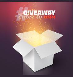 white box giveaway competition template vector image