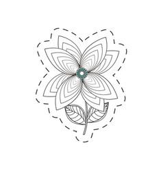 lily flower decoration cut line vector image