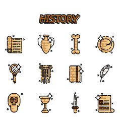 History and culture icons vector