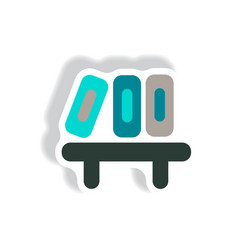 Stylish icon in paper sticker style office folders vector