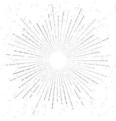 Retro vintage hand drawn sunburst star flare vector