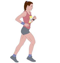 Female runner detailed vector