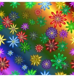 Bright colorful seamless with flowers vector image
