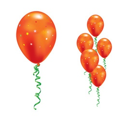 Orange party balloons vector