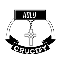 Holy crucifix design vector