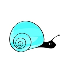 Funny snail animals mollusks vector