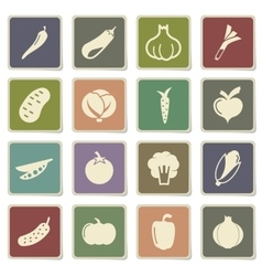 Vegetables simply icons vector