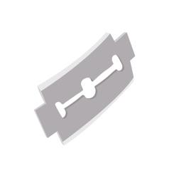 Razor blade icon in cartoon style vector