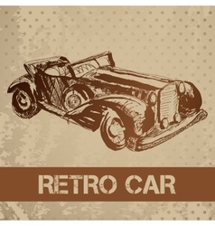 Retro car sketch for your design vector