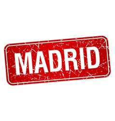 Madrid red stamp isolated on white background vector
