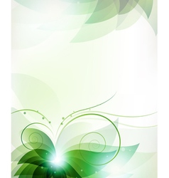 Abstract green flower vector image