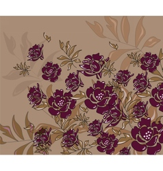 Abstract roses composition vector image vector image