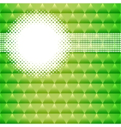 background with green triangles and circles vector image