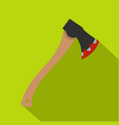 bloody axe icon flat style vector image