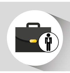 Business man suitcase icon design vector