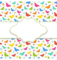 Butterfly frame vector