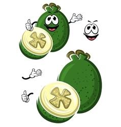 Cartoon australian feijoa fruit character vector image vector image