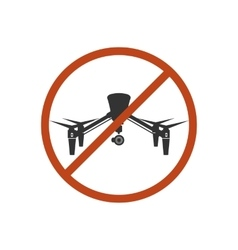 Drone safety sign prohibit air fly danger zone vector