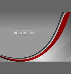 Gray and red curve abstract background with vector