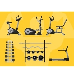 Gym isolated equipment icon vector