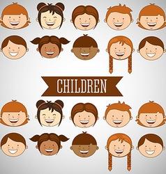 happy children design vector image