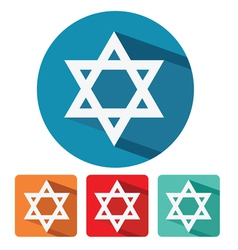 judaism star of david flat icon design vector image vector image