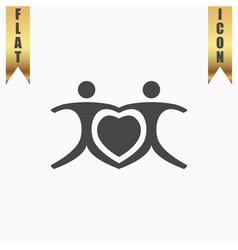 Love people - heart vector