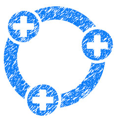 Medical collaboration grunge icon vector