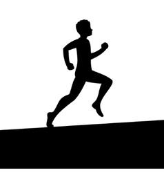 Men Running Silhouette vector image vector image