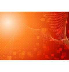 Modern hi-tech background template in orange vector image