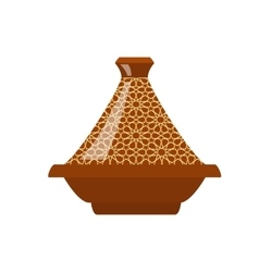 Moroccan tajine isolated vector