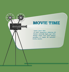 Movie time poster cartoon vector