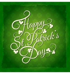 Patricks Day Lettering vector image vector image