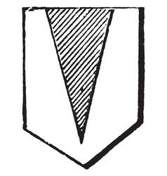 Pile is an angular figure like a wedge vintage vector