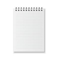Realistic notebook vector