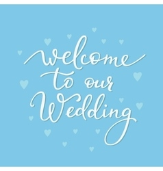 Romantic wedding simple lettering decor vector