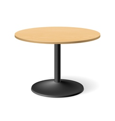 Round table vector image vector image