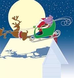 Santa in sled vector image