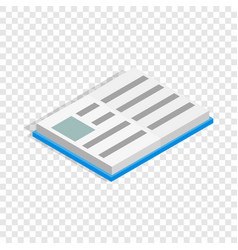 school book isometric icon vector image