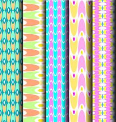 set geometric pastel pattern vector image vector image