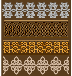 Set of celtic ornaments and patterns vector image