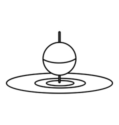 Small floating bobber icon outline style vector