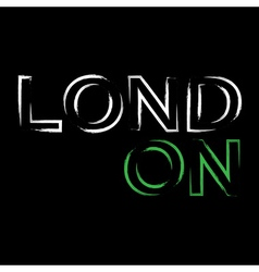 T shirt typography graphics london city brush vector