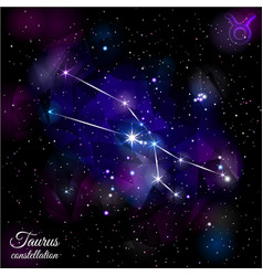 taurus constellation with triangular background vector image
