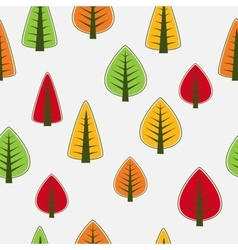 Tree seamless vector image vector image