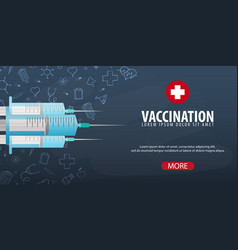 Vaccination medical background health care vector
