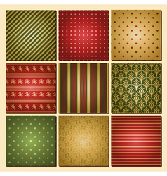 vintage style christmas backgrounds collection vector image vector image