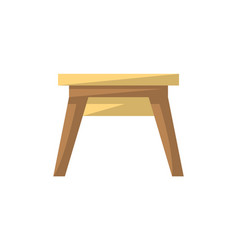 wooden stool isolated icon in flat style vector image