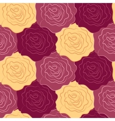 Seamless texture of roses vector