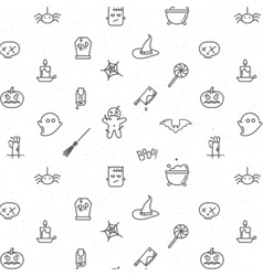 Halloween flat pattern soft vector image
